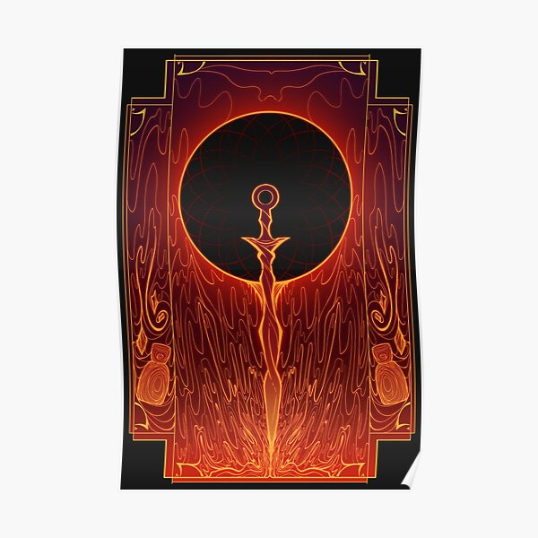 Sword of the Eclipsed Sun Poster RB0909 product Offical Dark Souls Merch