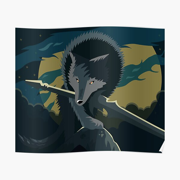 Sif, the Great Grey Wolf Poster RB0909 product Offical Dark Souls Merch