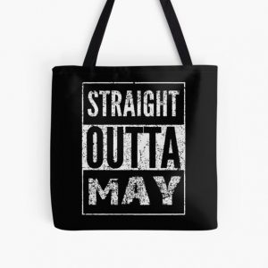 straight outta may black and white shirt dark soul clothing car All Over Print Tote Bag RB0909 product Offical Dark Souls Merch