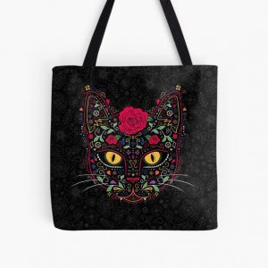 Day of the Dead Kitty Cat Sugar Skull All Over Print Tote Bag RB0909 product Offical Dark Souls Merch