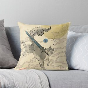 The Great Grey Wolf - Sifkami Throw Pillow RB0909 product Offical Dark Souls Merch