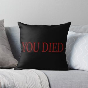 YOU DIED! Throw Pillow RB0909 product Offical Dark Souls Merch