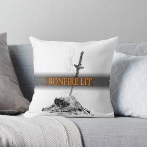 Bonfire Lit (Dark Souls) Throw Pillow RB0909 product Offical Dark Souls Merch