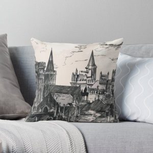 Lothric Castle Throw Pillow RB0909 product Offical Dark Souls Merch