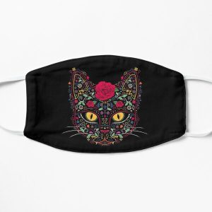 Day of the Dead Kitty Cat Sugar Skull Flat Mask RB0909 product Offical Dark Souls Merch